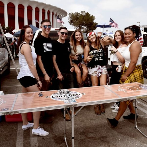 INGLEWOOD, CA - SEPTEMBER 01:  Guests attend the Inaugural Tailgate Fest on The Forum Grounds on September 1, 2018 in Inglewood, California.  (Photo by Michael Kovac/Getty Images for Tailgate Fest   )