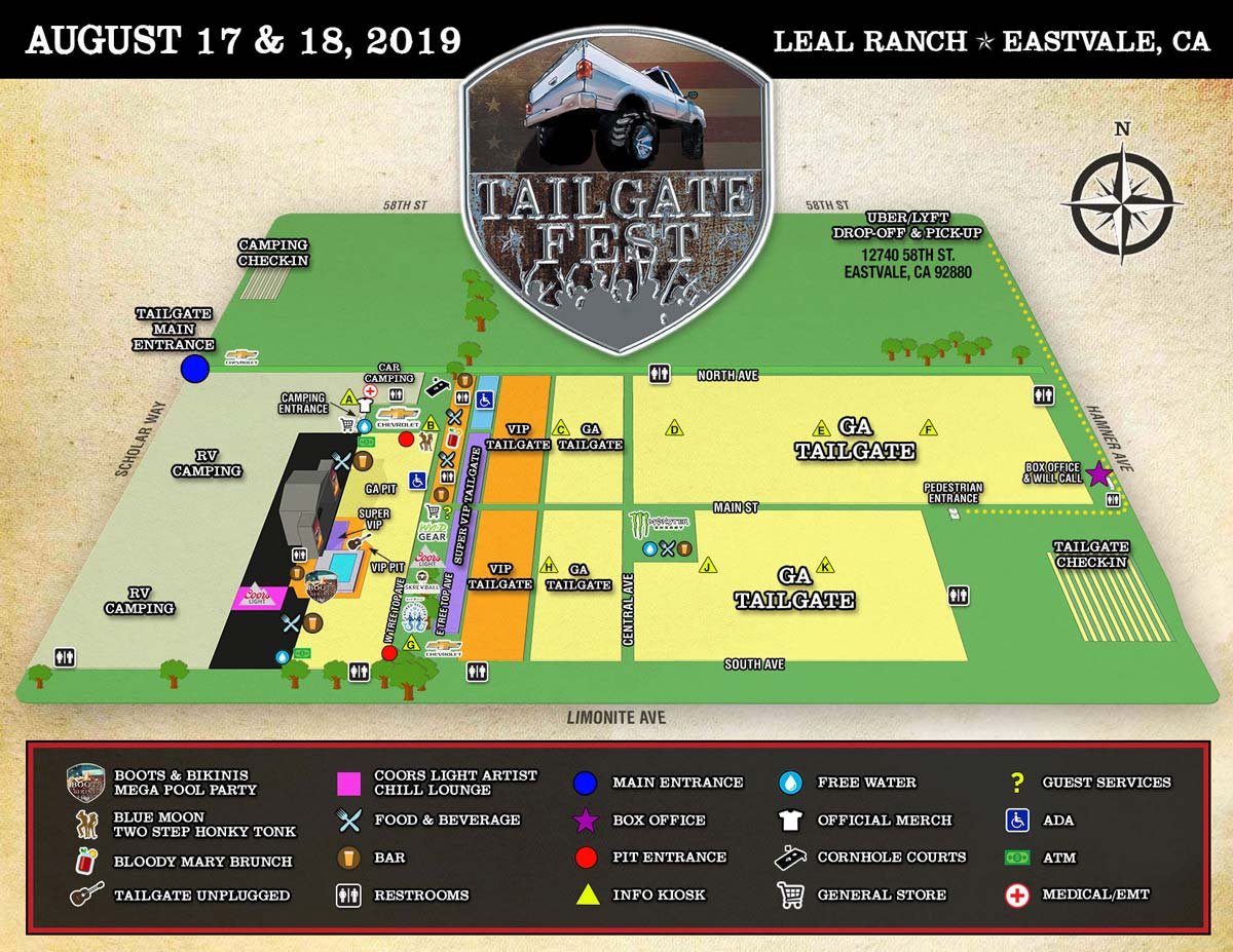 Tailgate Fest Section Map